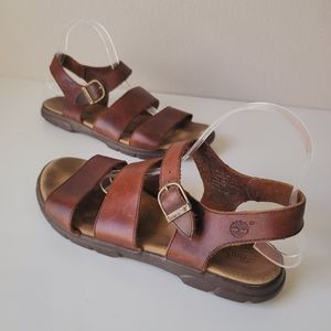 Timberland leather strap sandals